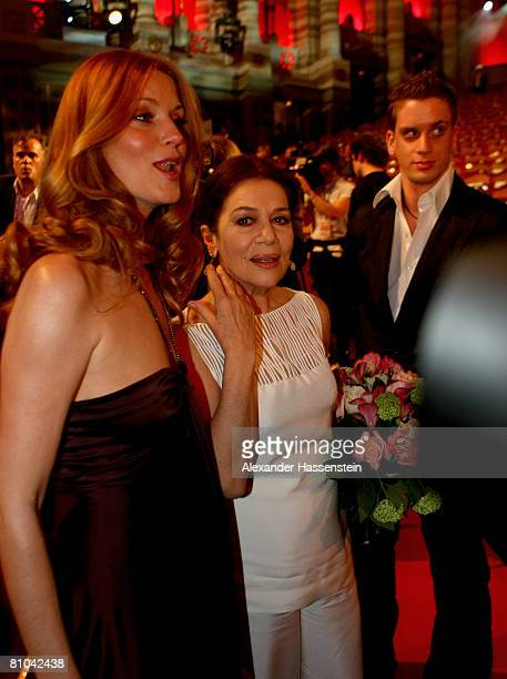 Hannelore Elsner is seen with her son Dominik and Esther Schweins after the Bavarian Television Award 2008 at the Prinzregenten Theatre on 9 May 2009...