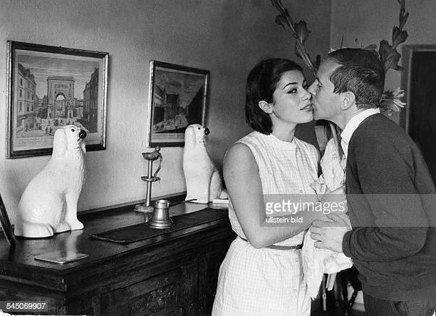 Hannelore Elsner*Schauspielerin Dmit Ehemann Gerd Vespermann 1964