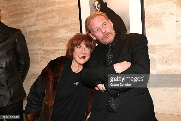 Hannelore Hoger and Ben Becker during the 'Berlin Opening Night of GALA UFA Fiction' at Das Stue Hotel on February 11 2016 in Berlin Germany