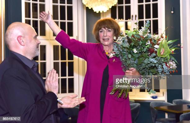 Hannelore Hoger and Joachim Kosack attend the farewell party celebrating the last film of BELLA BLOCK at restaurant Tarantella on October 13 2017 in...