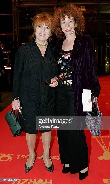 Hannelore Hoger and Nina Hoger arrive for the 'Goldene Kamera' Award on February 2 2006 in Berlin Germany