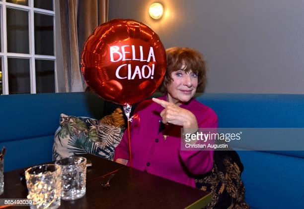Hannelore Hoger attends her farewell party celebrating the last film of BELLA BLOCK at restaurant Tarantella on October 13 2017 in Hamburg Germany