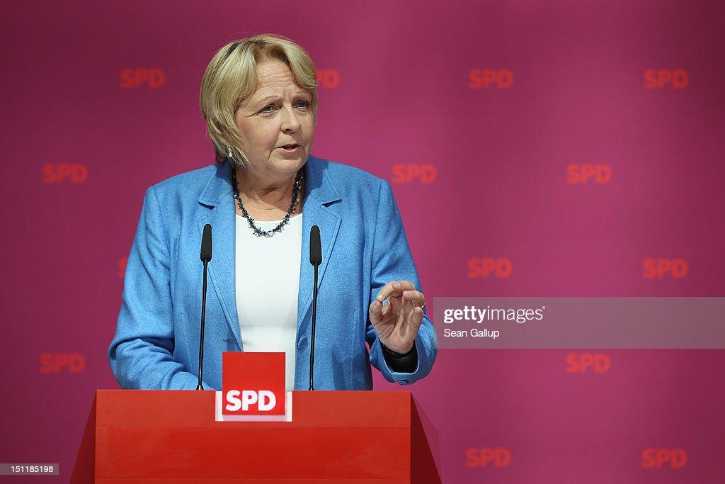 Hannelore Kraft Speaks On Pension Shortfalls Issue