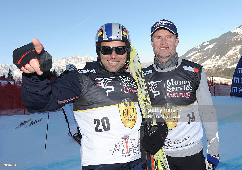 Hannes Arch and David Coulthard attend the Kitzbuehel Charity Race on January 23, 2010 in Kitzbuehel, Austria.