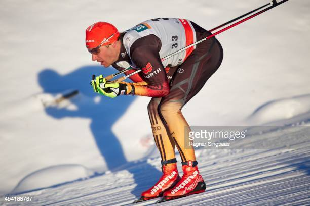 Hannes Dotzler of Germany competes during the FIS CrossCountry World Cup Men's 15km Classic on December 7 2013 in Lillehammer Norway