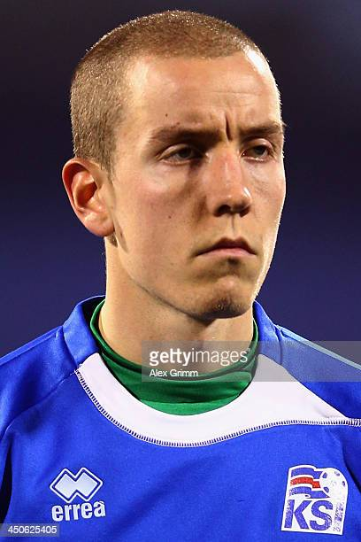 Hannes Halldorsson of Iceland prior to the FIFA 2014 World Cup Qualifier playoff second leg match between Croatia and Iceland at Maksimir Stadium on...