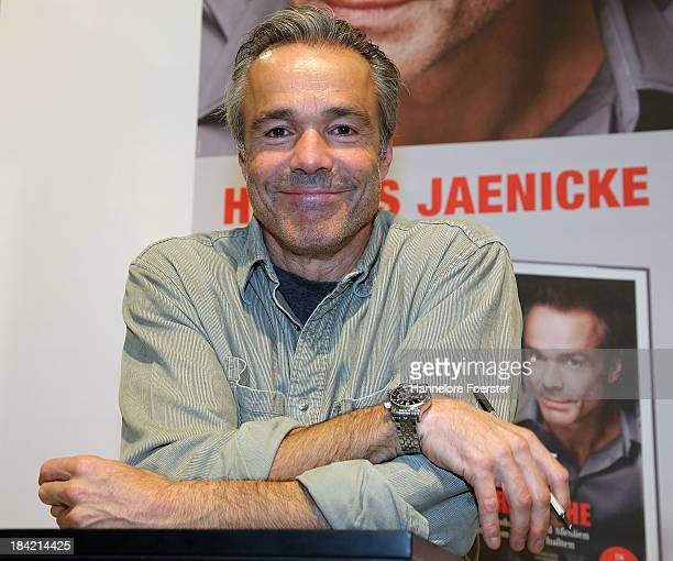 Hannes Jaenicke actor attends the Frankfurt Book Fair on October 12 2013 in Frankfurt am Main Germany This year's fair will be open to the public...