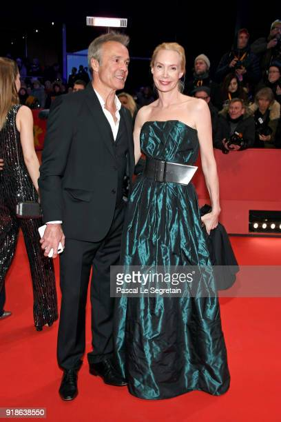 Hannes Jaenicke and Feo Aladag attend the Opening Ceremony 'Isle of Dogs' premiere during the 68th Berlinale International Film Festival Berlin at...