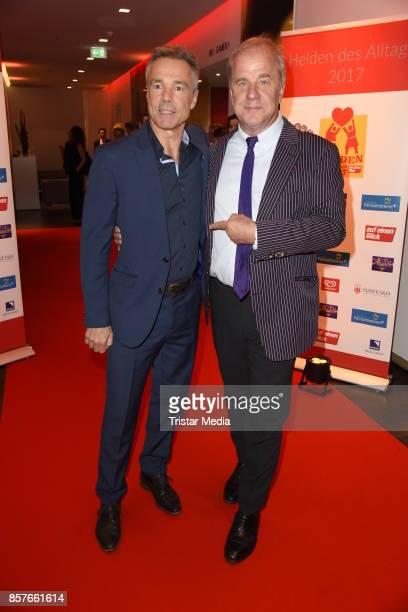 Hannes Jaenicke and Hubertus MeyerBurckhardt attend the 'Helden des Alltags' Gala at Theater Kehrwieder on October 4 2017 in Hamburg Germany
