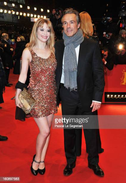 Hannes Jaenicke and Sophie Adell attend 'The Grandmaster' Premiere during the 63rd Berlinale International Film Festival at Berlinale Palast on...