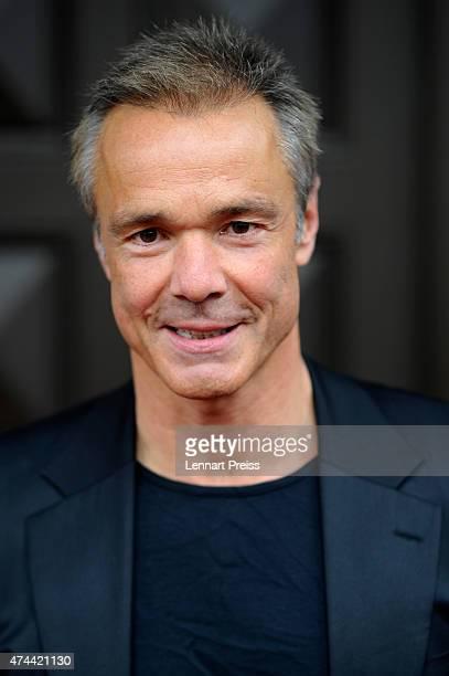 Hannes Jaenicke arrives for the Bayerischer Fernsehpreis 2015 at Prinzregententheater on May 22 2015 in Munich Germany