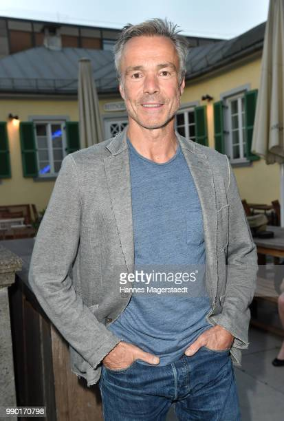 Hannes Jaenicke attends the UFA Fiction Reception during the Munich Film Festival 2016 at Cafe Reitschule on July 2 2018 in Munich Germany