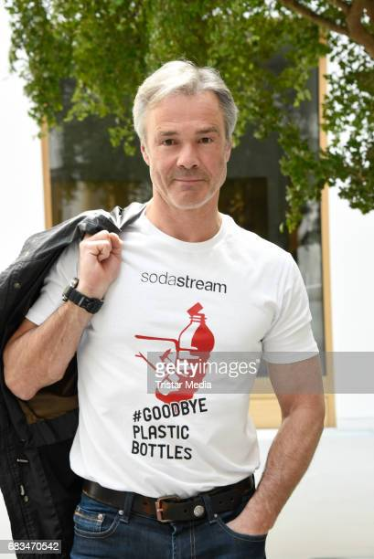 Hannes Jaenicke poses during the presentation of a joint environmental project by SodaStream and himself on May 15 2017 in Berlin Germany