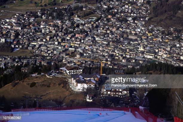 Hannes Reichelt of Austria competes during the Audi FIS Alpine Ski World Cup Men's Downhill on December 28 2018 in Bormio Italy