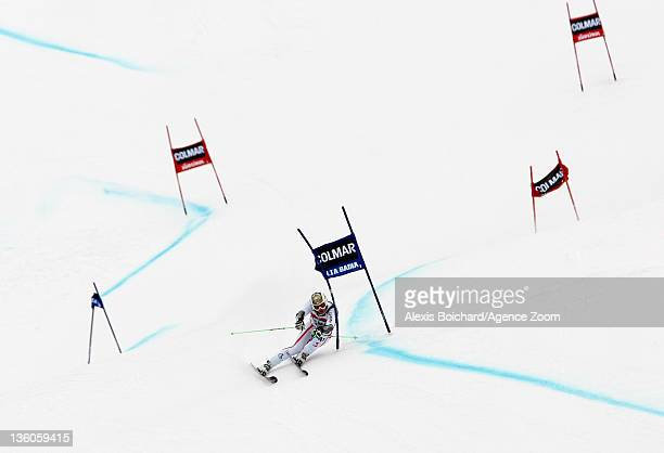 Hannes Reichelt of Austria takes 2nd place during the Audi FIS Alpine Ski World Cup Men's Giant Slalom on December 18 2011 in Alta Badia Italy