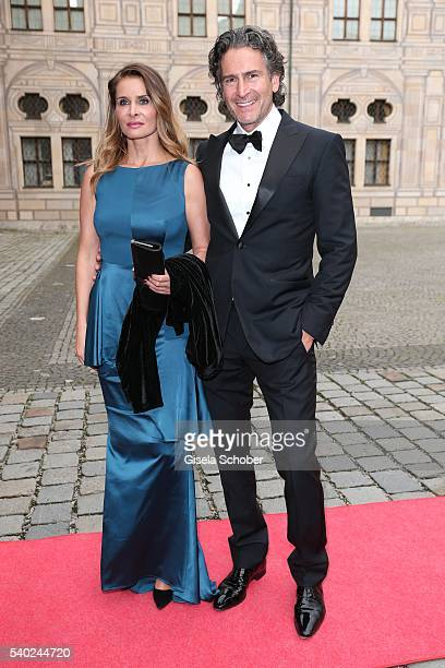 Hannes Ritter and his wife Alexandra Ritter during a charity dinner hosted by AMADE Deutschland and Roland Berger Foundation at Kaisersaal der...