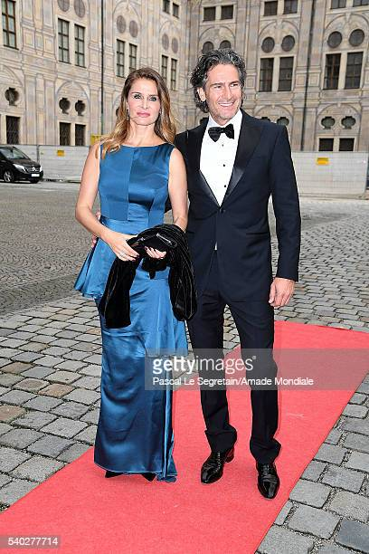 Hannes Ritter and wife Alexandra Ritter attend the AMADE Deutschland Charity dinner on June 14 2016 in Munich Germany