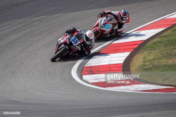 Hannes Soomer of Estonia and Racedays leads the field during the Supersport race during the Motul FIM Superbike World Championship Race 2 at Algarve...