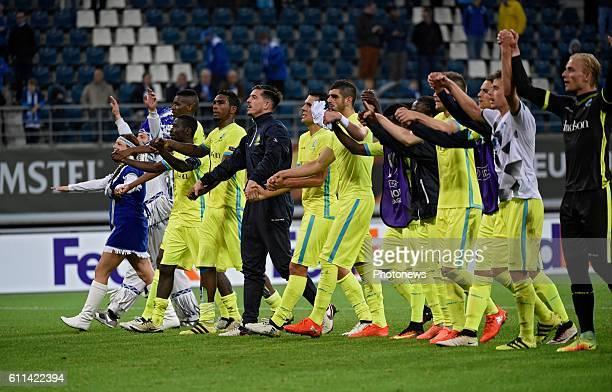 Hannes Van Der Bruggen midfielder of KAA Gent celebrates the win pictured during the Uefa Europa League group H between Kaa GENT and Atiker Konyaspor...