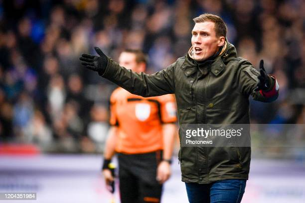 Hannes Wolf head coach of Genk during the Jupiler Pro League match between KRC Genk and Club Brugge KV on March 01 2020 in Genk Belgium