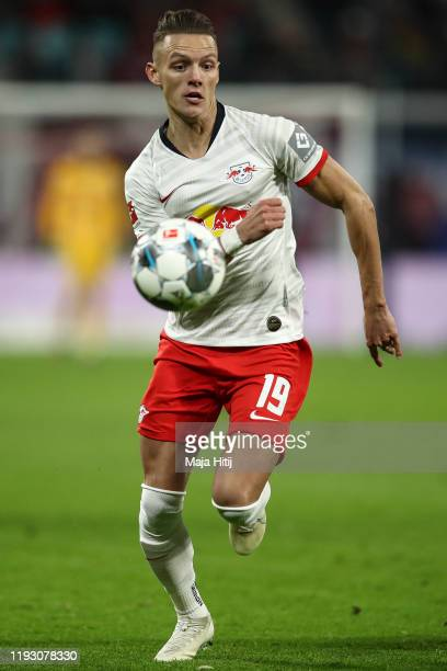 Hannes Wolf of Leipzig controls the ball during the Bundesliga match between RB Leipzig and TSG 1899 Hoffenheim at Red Bull Arena on December 07 2019...