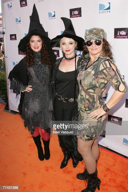Hannia Guillen Kim Johnston Ulrich and Eva Tamargo arrive at the Passions Halloween Party at Universal City Walk on October 20 2007 in Universal City...