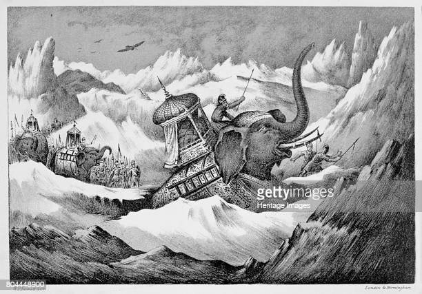 Hannibal and his war elephants crossing the Alps 218 BC During the Second Punic War the Carthaginian general Hannibal led his army including...