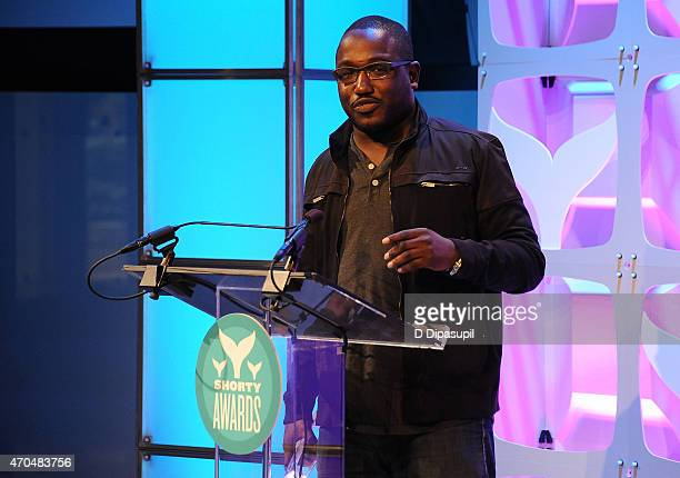 Hannibal Buress accepts a Shorty Award during the 7th Annual Shorty Awards on April 20 2015 in New York City