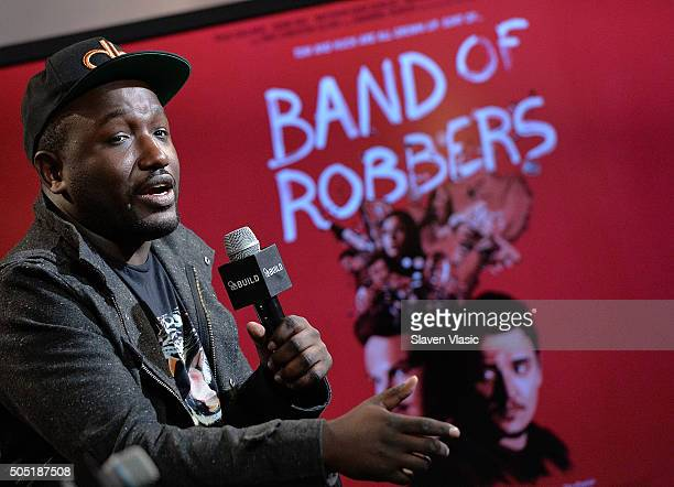 Hannibal Buress discusses his upcoming film ÒBand of RobbersÓ at AOL Build Speaker Series at AOL Studios In New York on January 15 2016 in New York...