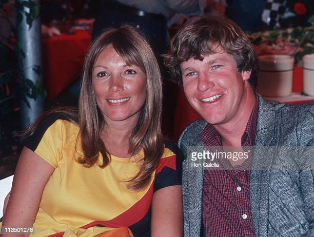 Hannie Strasser and Larry Wilcox during Toyota Pro/Celebrity Auto Race March 14 1981 at Long Beach Racetrack in Long Beach California United States