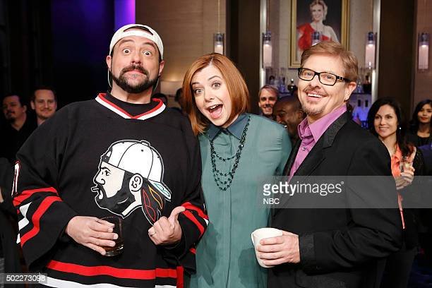 NIGHT 'Hannigan Hale Hunt Oh My' Episode 408 Pictured Kevin Smith Alyson Hannigan Dave Foley