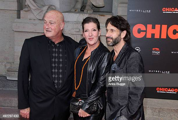 Hannnes Fischer Katy Karrenbauer and Falk Willi Wild attend the premiere for the musical 'Chicago' at Theater des Westens on October 11 2015 in...
