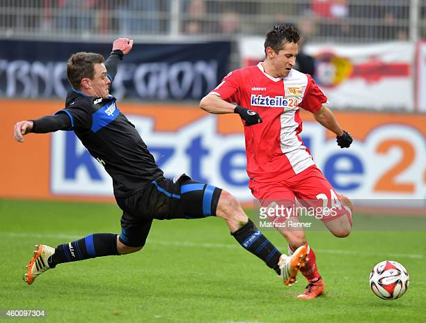 Hanno Balitsch of FSV Frankfurt and Steven Skrzybski of 1 FC Union Berlin during the game between Union Berlin and FSV Frankfurt on december 7 2014...