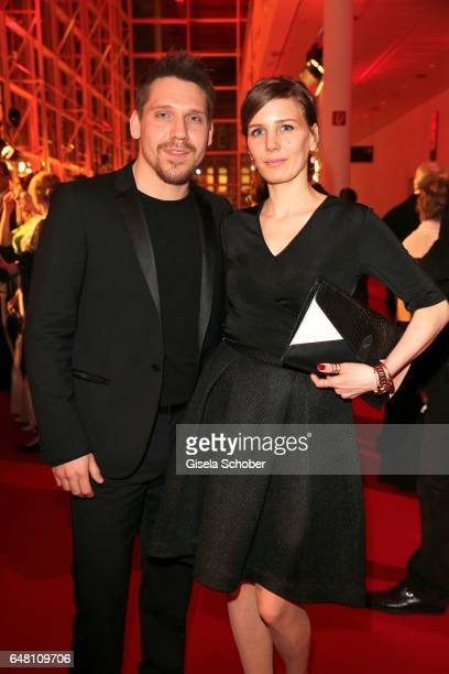Hanno Koffler and Mia Meyer during the Goldene Kamera reception at Messe Hamburg on March 4 2017 in Hamburg Germany