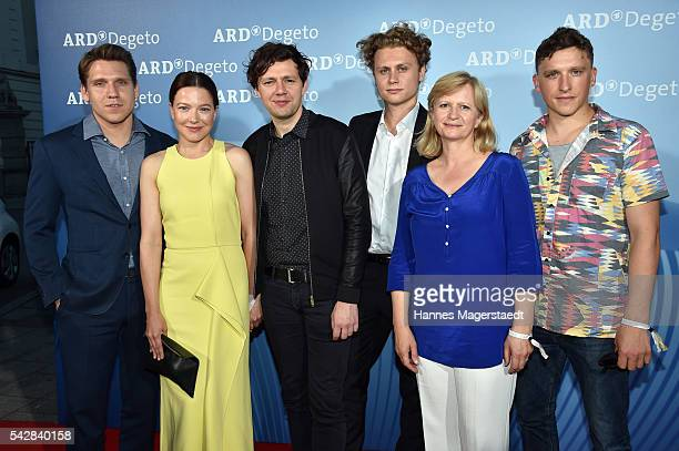 Hanno Koffler Christian Friedel Hannah Herzsprung Rafael Gareisen Johanna Gastdorf and Oliver Konietzny during the ARD Degeto Get Together during the...