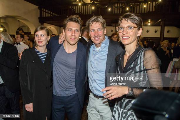 Hanno Koffler with partner and Tobias Moretti with his wife Julia attend the 'Jedermann' premiere celebration during the Salzburg Festival 2017 on...