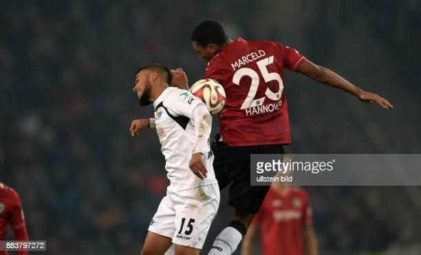 FUSSBALL 1 BUNDESLIGA SAISON Hannover 96 SC Paderborn Elias Kachunga gegen Marcelo Antonio Guedes Filho