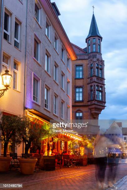 hannover historic old town at dusk - hanover germany stock pictures, royalty-free photos & images