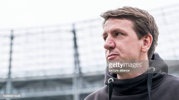 Hannover's coach Daniel Stendel seen prior to the German 2nd division Bundesliga soccer match between Hannover 96 and TSV 1860 Munich in the HDIArena...