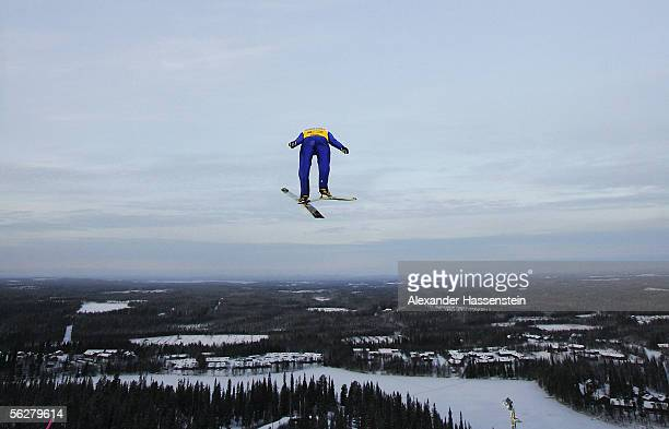 Hannu Manninen of Finland in action during the FIS Nordic Combined World Cup on November 27 2005 in Kuusamo Finland