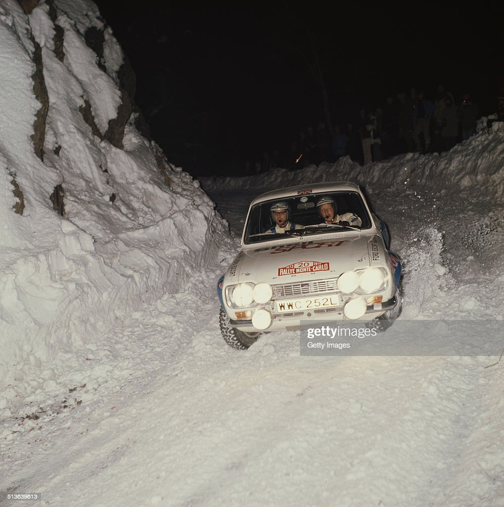 Hannu Mikkola of Finland and co-driver Jim Porter in the #20 Ford Escort RS1600 during the FIA World Rally Championship 42nd running of the Monte Carlo Rally on 20th January 1973 in Monte Carlo, Monaco.