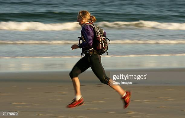 Hanny Alston of the Charity Team in action during day five of the Mark Webber Pure Tasmania Challenge on November 9 2006 in Bruny Island Australia