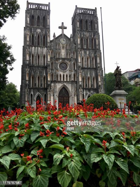 hanoi church - cathedral stock pictures, royalty-free photos & images