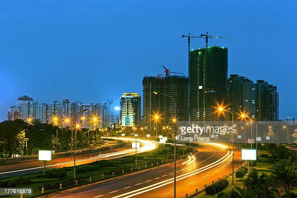 Hanoi city by night