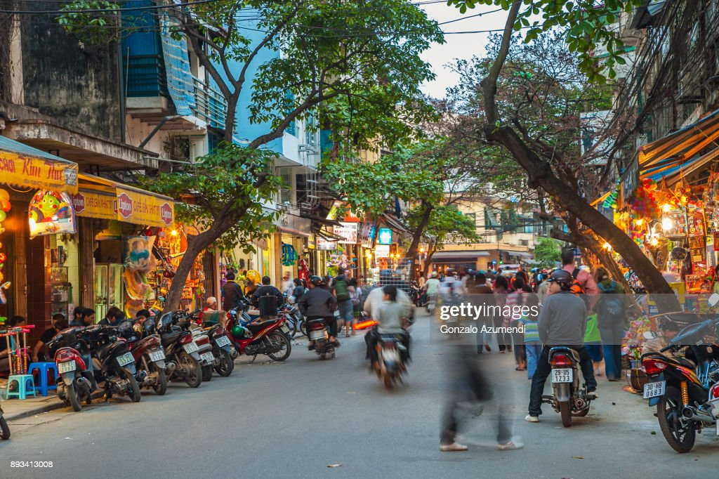 Hanoi city in Vietnam : Stock Photo