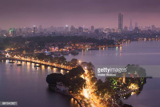 Hanoi, elevated city view by Tay Ho