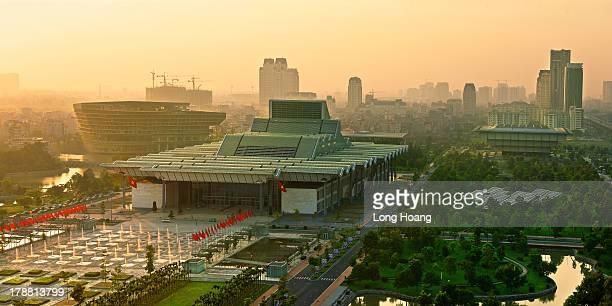 Hanoi in sunset