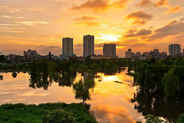 Hanoi In Sunset. Wall Art