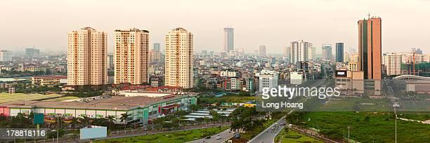 Hanoi in sunset.
