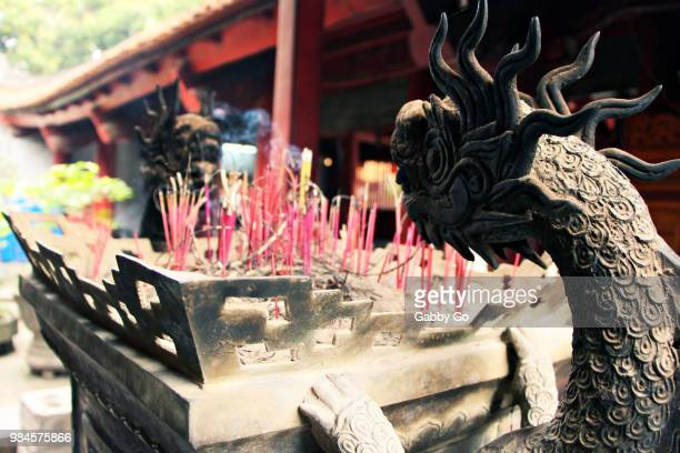 hanoi temple dragons - gabby allen stockfoto's en -beelden